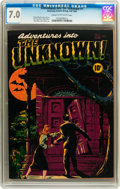 Golden Age (1938-1955):Horror, Adventures Into The Unknown #1 (ACG, 1948) CGC FN/VF 7.0 Cream tooff-white pages....