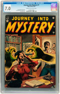 Golden Age (1938-1955):Horror, Journey Into Mystery #1 (Marvel, 1952) CGC FN/VF 7.0 Cream tooff-white pages....