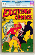 Golden Age (1938-1955):Superhero, Exciting Comics #1 (Nedor, 1940) CGC FN/VF 7.0 Off-white pages....