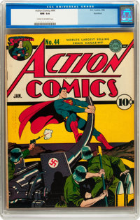 Action Comics #44 Rockford pedigree (DC, 1942) CGC NM 9.4 Cream to off-white pages
