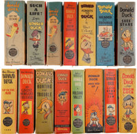 Big Little Books: Donald Duck Group (Whitman, 1938-49) Condition: Average VF+.... (Total: 15 Items)