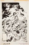 Original Comic Art:Covers, John Buscema Conan the Barbarian #182 Cover Original Art(Marvel, 1986)....