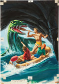 Original Comic Art:Covers, George Wilson Korak, Son of Tarzan #8 Painted Cover OriginalArt (Gold Key, 1965)....