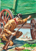 Original Comic Art:Covers, Classics Illustrated #131 The Covered Wagon PaintedCover Original Art (Gilberton, 1964)....