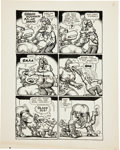 Original Comic Art:Panel Pages, Robert Crumb Big Ass Comics #1 Eggs Ackley Page 9 OriginalArt (Rip Off Press, 1969)....
