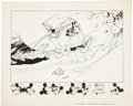 Original Comic Art:Illustrations, Carl Barks Disney Try-Out Mickey Mouse Illustration Original Art(1935)....