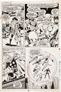 Original Comic Art:Panel Pages, John Buscema and George Klein The Avengers #58 page 11Original Art (Marvel, 1968)....