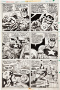 Original Comic Art:Panel Pages, Jack Kirby, Frank Giacoia, and John Verpoorten Captain AmericaAnnual #3 page 10 Original Art (Marvel, 1976)....