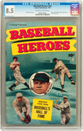 Golden Age (1938-1955):Non-Fiction, Baseball Heroes #nn (Fawcett, 1952) CGC VF+ 8.5 Off-white to whitepages....