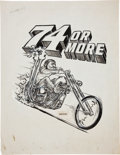 "Original Comic Art:Illustrations, Ed ""Big Daddy"" Roth Studio 74 or More Illustration Original Art (1969)...."