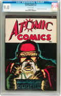 Golden Age (1938-1955):Crime, Atomic Comics #1 (Green Publishing Co., 1946) CGC VF/NM 9.0 Off-white pages....