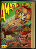 Pulps:Science Fiction, Amazing Stories October-December 1928 Bound Volume (Ziff-Davis,1928)....