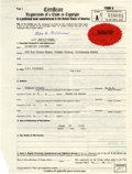 Original Comic Art:Miscellaneous, XYZ Comics Copyright Registration Certificate (1973)....