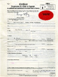 Original Comic Art:Miscellaneous, Zap Comix #1 Registration of a Claim to CopyrightCertificate (1972)....