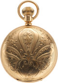 Timepieces:Pocket (pre 1900) , Waltham 18 Size 14k Gold Hunters Case, circa 1891. ...