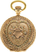 Timepieces:Pocket (pre 1900) , Waltham 14k Gold O Size Multicolor, circa 1893. ...