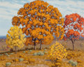 Texas:Early Texas Art - Regionalists, FRED DARGE (American, 1900-1978). Autumn Landscape. Oil oncanvas board . 16 x 20 inches (40.6 x 50.8 cm). Signed lower ...
