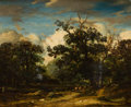 Fine Art - Painting, European:Antique  (Pre 1900), THE PROPERTY OF AN AMERICAN FAMILY. JOHN CONSTABLE (British,1776-1837). Suffolk Landscape with Cattle, Trees and aWind...