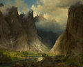 19th Century European:Landscape, JOHAN FREDRIK ECKERSBERG (Norwegian, 1822-1870). Valley ofRomsdalen, 1857. Oil on canvas. 23 x 28 inches (58.4 x 71.1c...