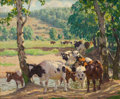 Fine Art - Painting, American:Modern  (1900 1949)  , PROPERTY FROM THE EDWARD CHARLES VOLKERT FAMILY COLLECTION. EDWARDCHARLES VOLKERT (American, 1871-1935). Shaded Stream...