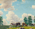 Fine Art - Painting, American:Modern  (1900 1949)  , PROPERTY FROM THE EDWARD CHARLES VOLKERT FAMILY COLLECTION. EDWARDCHARLES VOLKERT (American, 1871-1935). Breezy Afterno...