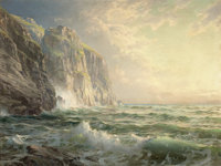 FROM THE FLANNER & BUCHANAN CORPORATE COLLECTION  WILLIAM TROST RICHARDS (American, 1833-1905) Rocky Clif