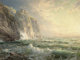 FROM THE FLANNER & BUCHANAN CORPORATE COLLECTION  WILLIAM TROST RICHARDS (American, 1833-1905) Rocky Cliff with...
