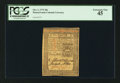 Colonial Notes:Pennsylvania, Pennsylvania October 1, 1773 20s PCGS Extremely Fine 45.. ...