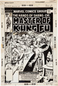 Original Comic Art:Covers, Marie Severin and Dave Cockrum Master of Kung Fu #48 Cover Original Art (Marvel, 1977)....