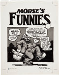 Original Comic Art:Covers, Robert Crumb Morse's Funnies Cover Original Art (AlbertMorse, 1974)....