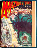 Pulps:Science Fiction, Amazing Stories October-December 1929 Bound Volume (Ziff-Davis,1929)....