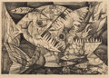 Texas:Early Texas Art - Modernists, GEORGE GRAMMER (American, b. 1928). Greed, 1952. Lithograph. 10-1/2 x 14-1/2 inches (26.7 x 36.8 cm). Ed. 8/10. Signed ...