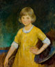 CHARLES WEBSTER HAWTHORNE (American, 1872-1930) Portrait of Joan Becker, 1920 Oil on board 30 x 25 inches (76.2 x 63