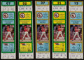 Baseball Collectibles:Tickets, 1985 Cal Ripken Rochester Red Wings Full Tickets Lot of 5....