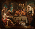 Fine Art - Painting, European:Antique  (Pre 1900), School of PETER PAUL RUBENS (Flemish, 1577-1640). TheBanquet. Oil on canvas . 31-3/4 x 37-3/4 inches (80.6 x 95.9cm). ...