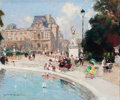 Paintings, JULES RENÉ HERVÉ (French, 1887-1981). Le Bassin des Tuileries. Oil on canvas . 18 x 22 inches (45.7 x 55.9 cm). Signed l...