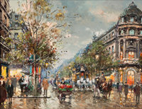 ANTOINE BLANCHARD (French, 1910-1988) Théâtre de Vaudeville, circa 1970s Oil on canvas 13 x 18 i