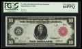 Large Size:Federal Reserve Notes, Fr. 903a $10 1914 Red Seal Federal Reserve Note PCGS Very ChoiceNew 64PPQ.. ...