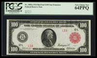Fr. 1083a $100 1914 Red Seal Federal Reserve Note PCGS Very Choice New 64PPQ