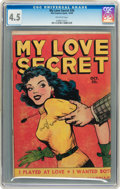 Golden Age (1938-1955):Romance, My Love Secret #26 (Fox Features Syndicate, 1949) CGC VG+ 4.5Off-white pages....