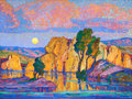 Paintings, FROM A PRIVATE INDIANAPOLIS COLLECTION. BIRGER SANDZÉN (American, 1871-1954). Late Moon Rising (Wild Horse Creek), 192...
