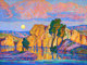 FROM A PRIVATE INDIANAPOLIS COLLECTION  BIRGER SANDZÉN (American, 1871-1954) Late Moon Rising (Wild Horse Creek)...