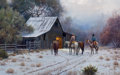 Paintings, MARTIN GRELLE (American, b. 1954). Just Before Dawn, 1991. Oil on canvas . 30-1/4 x 48-1/4 inches (76.8 x 122.6 cm). Sig...