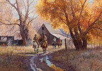 MARTIN GRELLE (American, b. 1954) Autumn Morning, 1991 Oil on canvas 28-1/4 x 40-1/4 inches (71