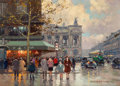 Paintings, EDOUARD-LÉON CORTÈS (French, 1882-1969). Place de l'Opera . Oil on canvas . 13 x 18 inches (33.0 x 45.7 cm). Signed lowe...