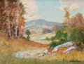 Texas:Early Texas Art - Regionalists, PETER LANZ HOHNSTEDT (American, 1872-1957). Rolling Hills .Oil on canvas . 12-1/4 x 16-1/4 inches (31.1 x 41.3 cm). Sig...