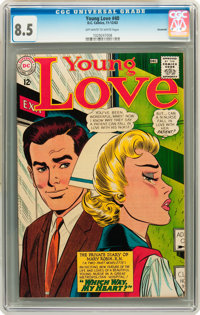 Young Love #40 Savannah pedigree (DC, 1963) CGC VF+ 8.5 Off-white to white pages
