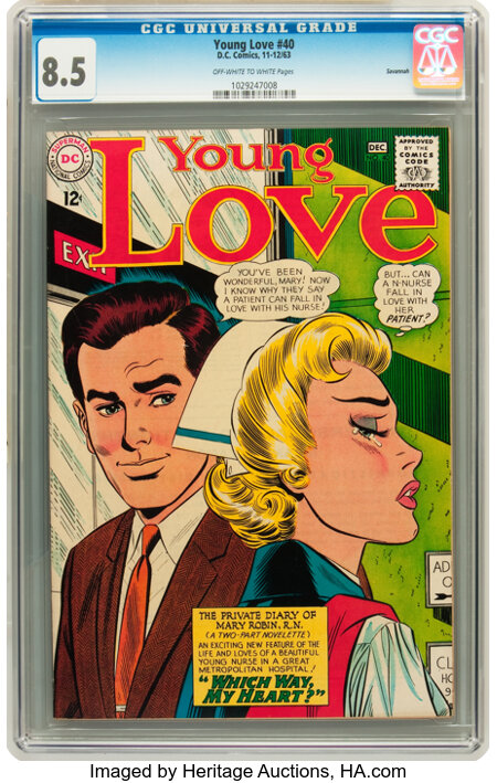 Young Love #40 Savannah pedigree (DC, 1963) CGC VF+ 8.5 Off-white to white pages....