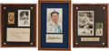 Baseball Collectibles:Others, Eddie Collins, John Lobert and Lefty Grove Signed Displays Lot of 3....