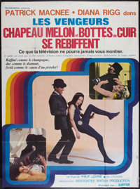 "The Avengers (Audifilm, R-1972). French Grande (45.5"" X 62""). Action"